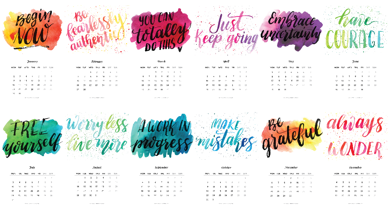 2017 Calendar Free Printable Inspiration Quotes The Key Itemthe